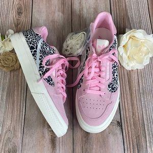 Adidas Pink Leopard Print Sneakers 9.5M